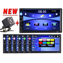2 Din Car multimedia Video Player Touch Screen Bluetooth Stereo Radio FM MP3 MP4 MP5 Audio Music USB TF Auto Electronics 2din(China)