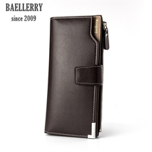 Top brand new Baellerry business designer Purse female original leather Men wallets for credit cards men's Clutch male wallet
