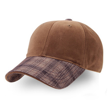 2016 New fashion adjustable plaid check strapback cotton velvet baseball cap men unisex sun hat truck cap bone gorras(China)
