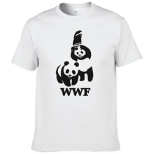 WEWANLD WWF Wrestling Panda Comedy Short Sleeve Cool Camiseta T Shirt Men T Shirt Summer Fashion Funny T-shirt #188(China)
