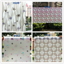 45cm*200cm/Lot Frosted Privacy Glass Window Film Adhesive Window Sticker Home Decor Water Transfer Printing Films  HQZU7 5