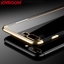 JOYROOM Soft TPU Plating Phone Case for iphone 7 Ultra Thin Transparent Rubber Protective Cover for iphone 7 plus Cases(China)