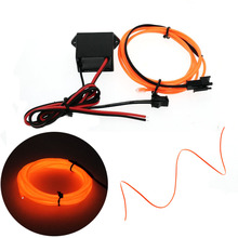 EL Wire Dance Party Car Decor Lighting Flexible Rope Tube Waterproof LED Strip car lights With DC12V Driver