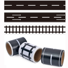 Railway Road Play traffic Washi Tape Sticker Wide Creative Roads Adhesive Masking Tape Scotch Road For Kids Toy Car Train Play(China)