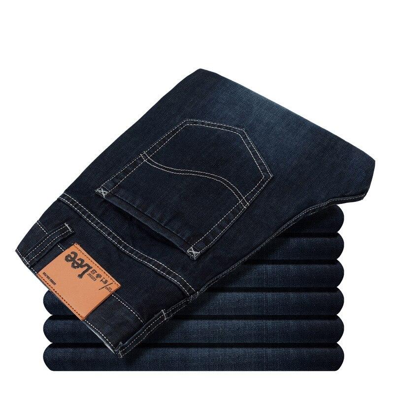 Mem denim pants New 2017 famous brand jeans Luxury High Quality mercerized cotton straight business blue man jeans plus size 38Одежда и ак�е��уары<br><br><br>Aliexpress