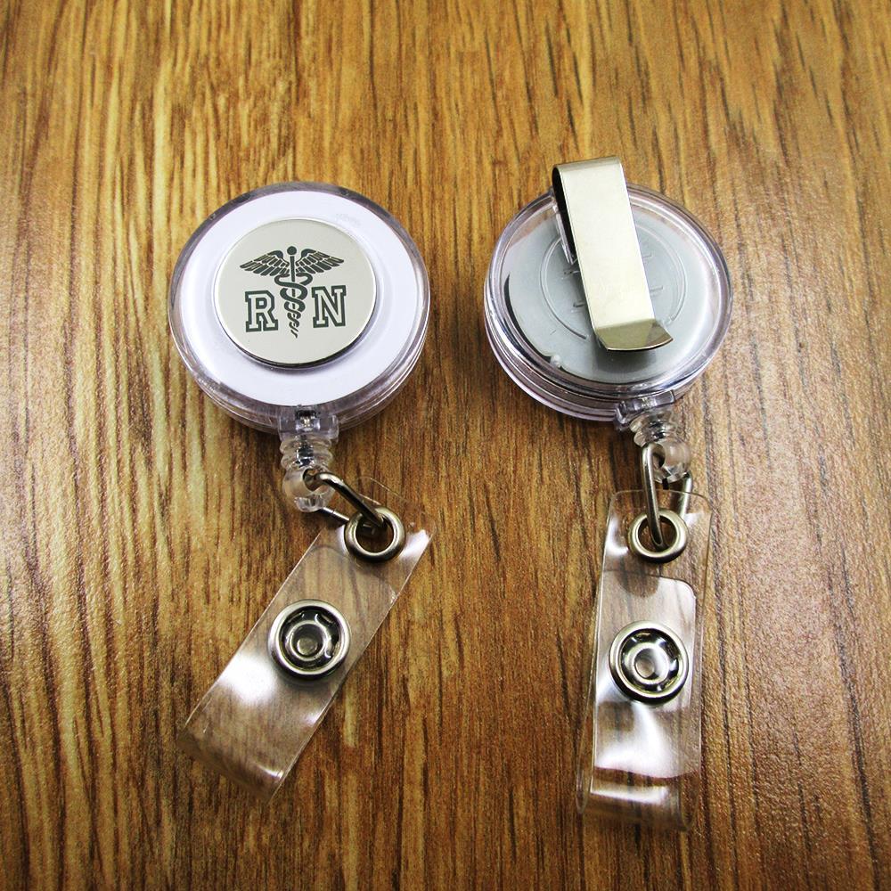 Flower Badge Reel Nurse Badge Reel Retractable Badge ID Badge Holder Flower ID Holder Teal Badge Reel RN Badge Reel Teacher Badge Reel
