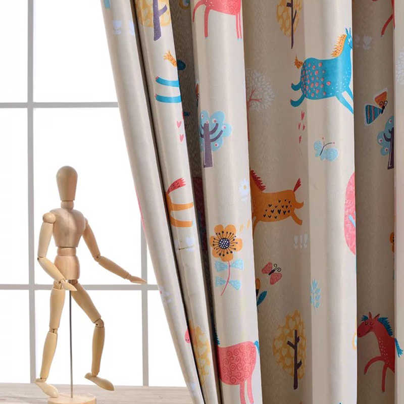 Cute Blackout Curtains For Living Room Curtains for Children Boys Girls Animated Cartoon  Window Drapes