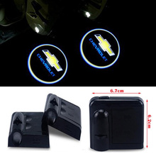 2x LED Car Door Logo Projector Light For chevrolet cruze lacetti aveo captiva sonic epica sail camaro orlando corsa malibu spark