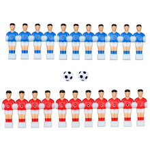 22pcs Players+ 2 Balls Table Football Players Foosball Table Games Toys Soccer Table Plastic Kickers 12.7mm