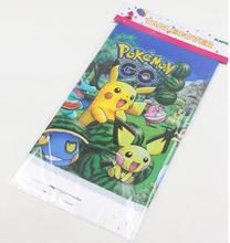 pokemon party disposable plastic tablecover 108*180cm tablecloth happy birthday decoration supplies(China)