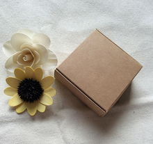 Qin.01.17/4.9*4.7*2cm Blank Brown Carton Kraft Box, Gift Packing Boxes, Soap Packaging, Storage Item Aircraft box