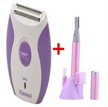 Kemei Depilatory Electric Female Face Hair Removal Women Lady Shaver Razor Epilator For Facial Body Bikini Depilador Depilation(China)