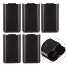 FW1S 5pcs/Lot AA Battery Back Cover Pack Case Replacement XBOX360 Wireless Controller Black