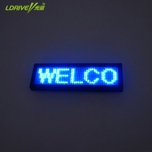 4 inch LED USB Charging Wireless Mini Display Car Sign Board LED Programmable Message blue red Digital Display Board Car Styling