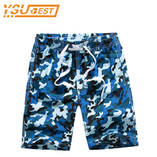 7-14yrs Camouflage Boys Beach Shorts New 2017 Fashion Beach Shorts Summer Children Swim Shorts Surf Campaign Quick Drying