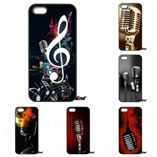 Awesome Old School Style Microphone Music Phone Case For Xiaomi Redmi Note 2 3 3S 4 Pro Mi4i Mi4C Mi5S Mi MAX iPod Touch 4 5 6