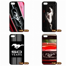 Fashion Amazing Ford Mustang Logo Phone Case Cover For Apple iPod Touch 4 5 6 iPhone 4 4S 5 5C SE 6 6S Plus 4.7 5.5