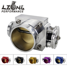 LZONE RACING - NEW THROTTLE BODY 70MM THROTTLE BODY PERFORMANCE INTAKE MANIFOLD BILLET ALUMINUM HIGH FLOW JR6970(China)