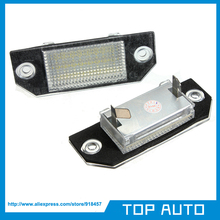 No Error 2Pcs LED Number License Plate Light For Ford Focus C-MAX 03-10 MK2 03-08(China)