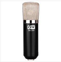 KFW SK-200 computer recording capacitor microphone microphones computer recording cover songs skype chat network K Black(China)