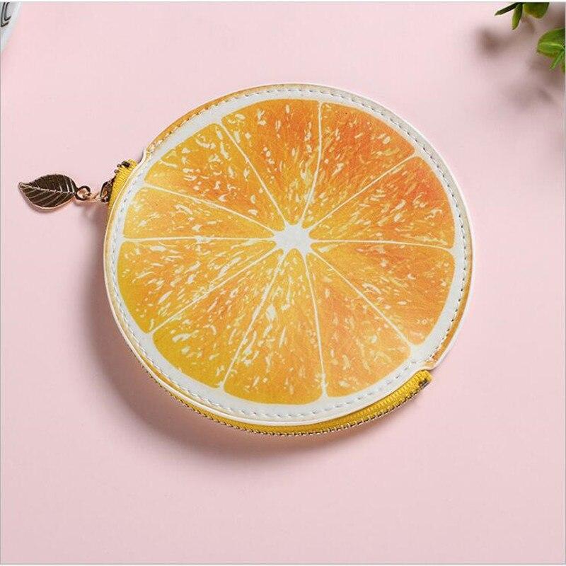 Kawaii Food Mini Happy Planner Pouch Cute Food Lemon Lime Orange Citrus Pouch Accessories Pouch Zippered Bag