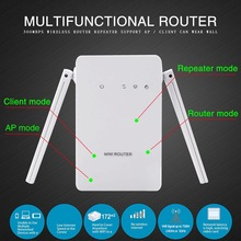 300Mbps Wireless-N Repeater Network Router WiFi 2dBi Antenna Signal Range Extender Booster For AP Amplifier 802.11b/g/n US Plug