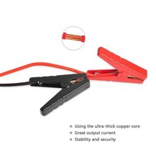 2PCS Emergency Lead Cable Battery Alligator Clamps Clip For Car Trucks Jump Starter Charging Starting System Battery Cables(China)