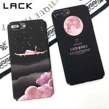 LACK Candy Color Airplane Phone Case For iphone 8 Plus Case Cartoon Space Moons Cover Hard PC Frosted Cases For iphone 8 Capa(China)