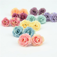 50pcs 3cm Mini Rose Cloth Artificial Flower For Wedding Party Home Room Decoration Marriage Shoes Hats Accessories Silk Flower