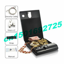 Jewelry Box Pistol box Portable Security Box Executive Biometric Fingerprint Safebox 120 best gift(China)