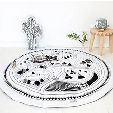 Kids Game Mats City Road Carpets Rugs Mat Playpen Cotton Soft Crawling Blanket Kids Room Decoration Gym Play Mat A058-30