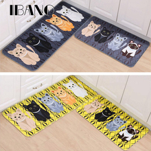 Kawaii Welcome Floor Mats Animal Cat Printed Bathroom Kitchen Carpets Doormats Cat Floor Mat for Living Room Anti-Slip Tapete(China)