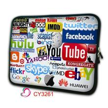 Internet Logo Neoprene Soft Laptop Bag Carry Cases Cover Pouch Protector For 7.9 9.7 11.6 13.3 14.4 15.4 15.6 17.3 17.4 computer