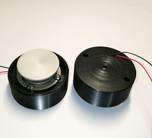 BLACK 50MM Power audio vibration speaker / mini speaker diy portable speaker Will sing the table vibro speaker