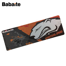 2017 Babaite Cool Mouse Pad Pc Computer Laptop Gaming Mice Play Mat Mousepad For Large Game Virtus Pro Logo Design Mousemat