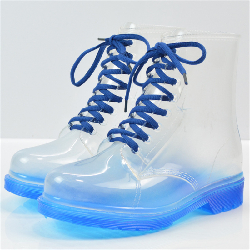 Waterproof and slip transparent Martin boots 2017 new fashion female boots warm waterproof shoes wear-resistant size 36-40<br><br>Aliexpress