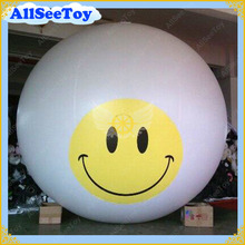 3 meters Smile Inflatable Helium Giant Balloon for Events,Inflatable Huge Sky Sphere for Advertising