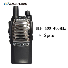 2pcs Zastone T2000 Walkie Talkie 8W High Power UHF 400-480MHz 16CH 2100mAh Battery Rechargeable With Bright Flashlight CB Radio