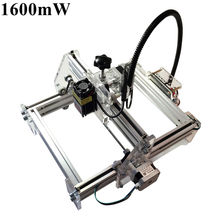 Laseraxe 405nm 1600mW DIY Desktop Mini Laser Engraver Engraving Machine Laser Cutter Etcher 17X20cm Adjustable Laser Power