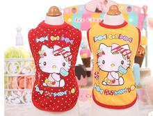 10pc/lot spring summer Hello kitty dog Vest T-shirt clothes cotton pet shirts dog puppy pet clothing for chihuahua  J-11