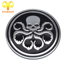 3D Hydra Logo Car Sticker Emblem Badge Decal For BMW Mercedes VW Audi Ford Toyota Nissan Honda Car Truck Grid Cover Front Tail