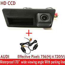 wrieless Night Vision waterproof  180 degree HD CCD Car Rear View Reverse parking handle Camera for Audi A4 A6 A8L S5 Q3 Q5