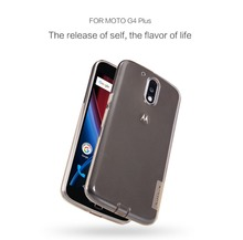 for moto g4 plus nillkin clear tpu case Ultra thin soft Silicone case for motorola moto g4 plus skin phone carry case g4 plus(China)