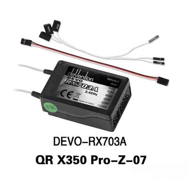 Original Walkera DEVO RX703A  Receiver for Walkera QR X350 PRO FPV Quadcopter Free shipping<br><br>Aliexpress