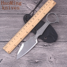 Outdoor portable camping survival Neck knives mini key chain D2 steel fixing knife hunting tactical battle EDC self-defense tool(China)
