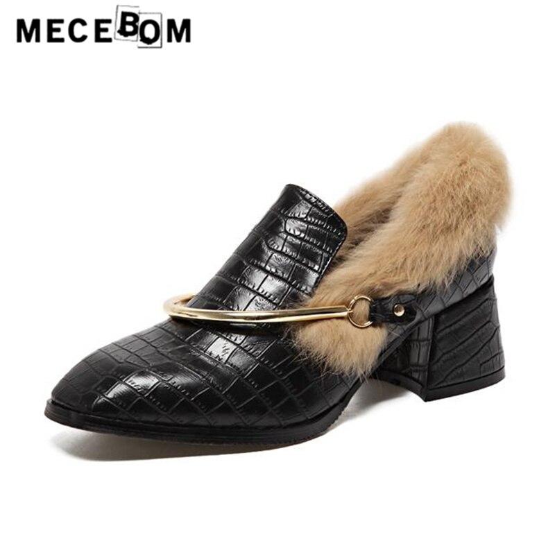Women pumps new fashion metal decoration ladies plush shoes women slip-on platform shoe sapato feminino size 35-39 d23w<br>