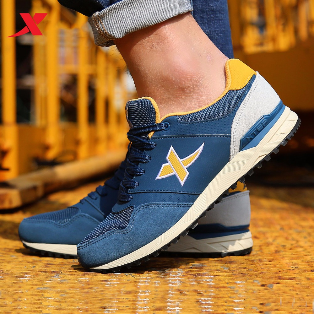 XTEP Brand 2017 hot Mens Retro Sport Shoes Athletic Shoes Mens Sneakers Running Shoes for Men free shipping 987319112536<br>
