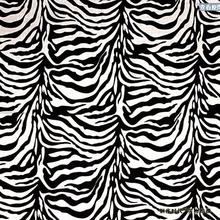 Bandana Animal /Zebra Print Black/White Background 100% Cotton 55x55cm