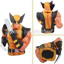 "7""18CM Super Heroes Wolverine X-Men Piggy Bank Coin Money Bank PVC Action Figure Collectible Model Toy XM007"