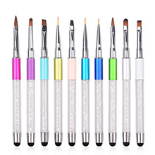 1PC Airbrush Nail Brush UV Gel Nail Art Brushes Sculpture Pen DIY Nail Tools Dotting Paint Pen Brushes For Manicure High Quality